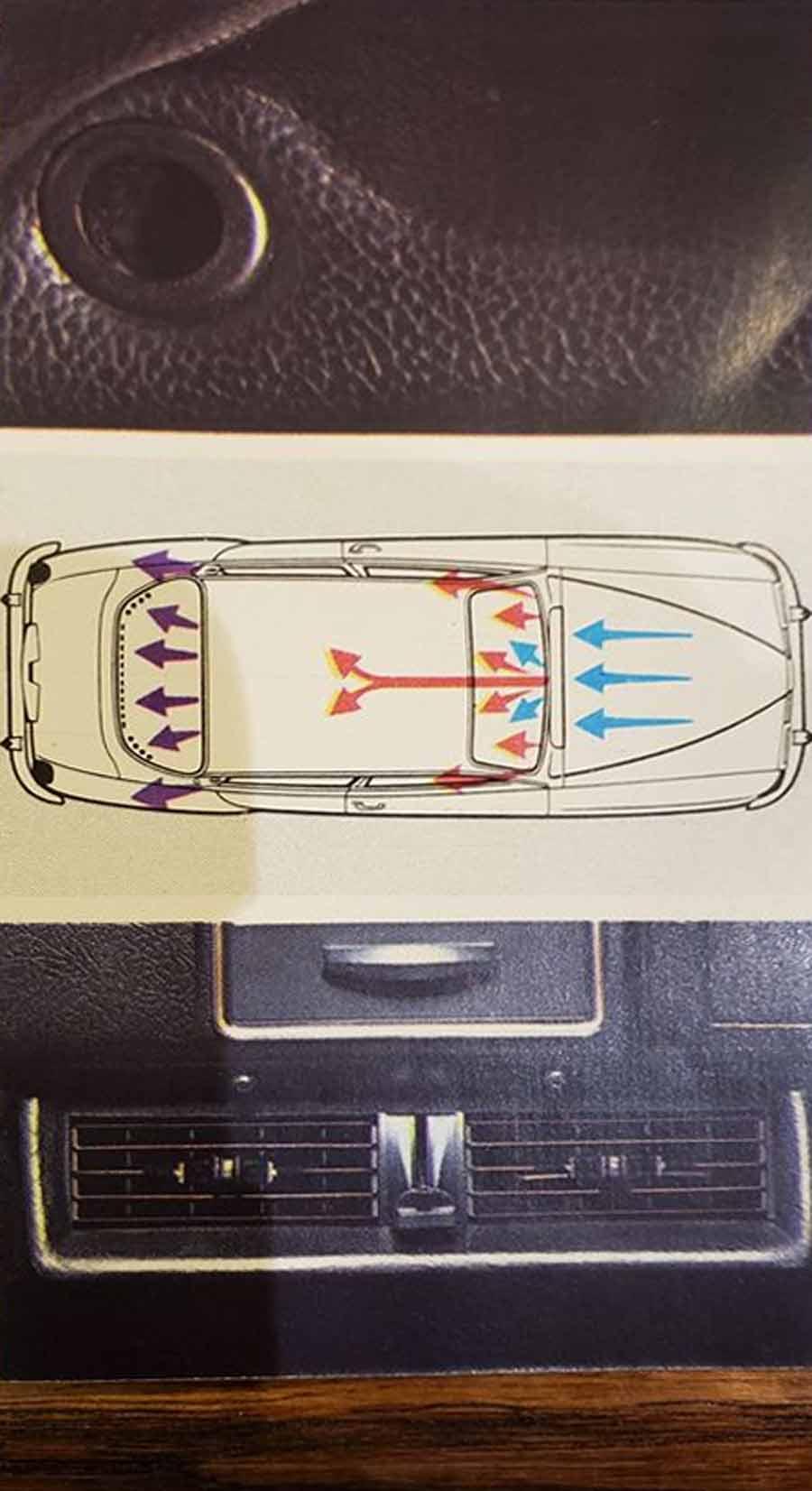 Saab 96 - the Air Flow thru the car scheme