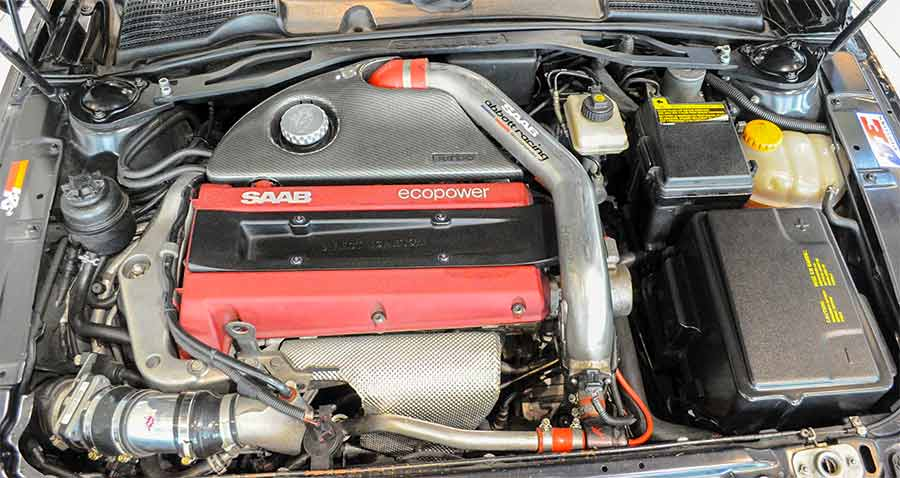 Saab tuned 2.3 engine