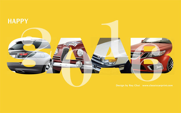 2016 Saab Calendar Wallpaper