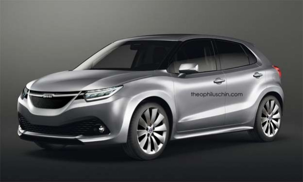 Saab 9-1x Crossover Concept Rendering