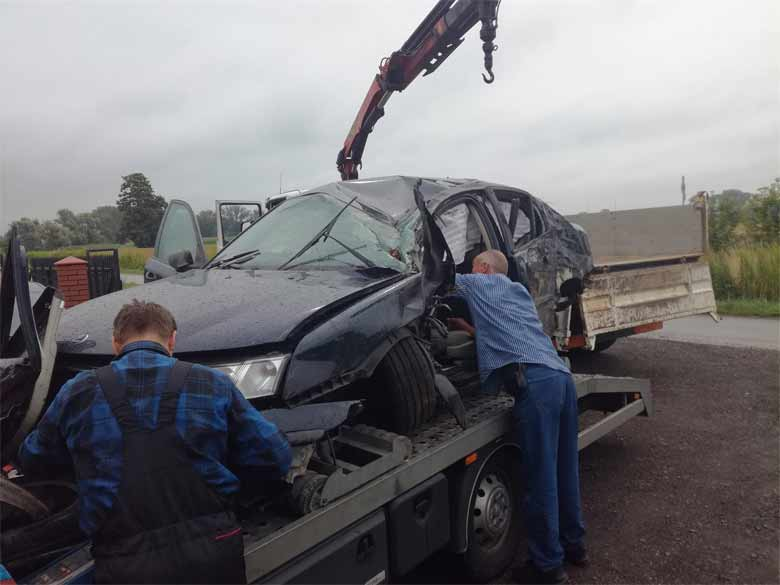 The driver survived after the Saab 9-3 rolled over several times