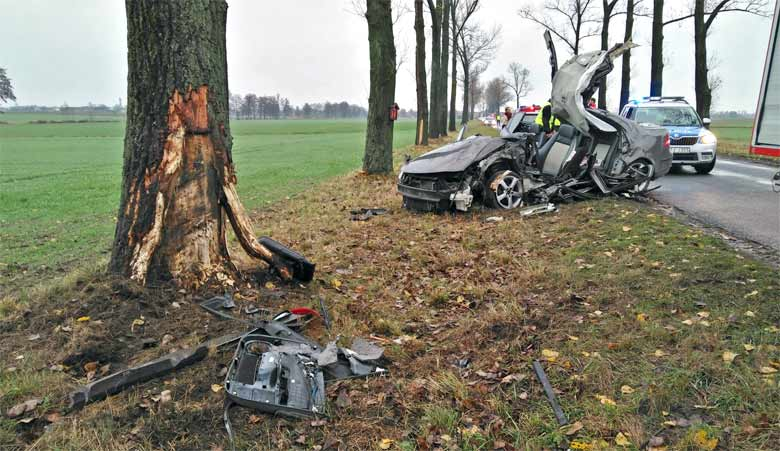 saab 9-3 collided witha tree