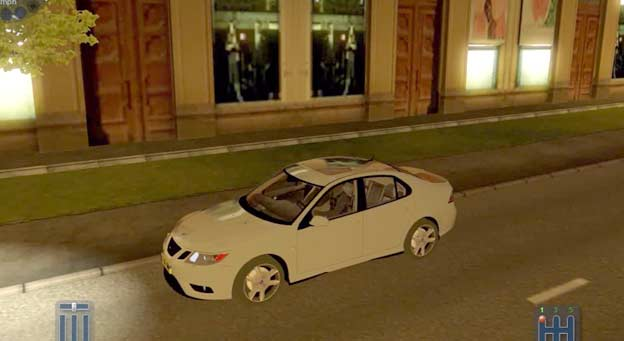 "Saab 9-3 Aero in ""City Car Simulator"""