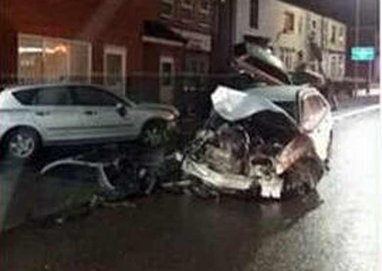 Saab 9-3 after crash