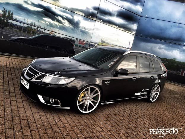beautiful saab 9 3 sportcombi blackknight saab planet. Black Bedroom Furniture Sets. Home Design Ideas