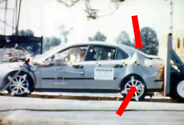 Saab 9-3 Rear Crash test