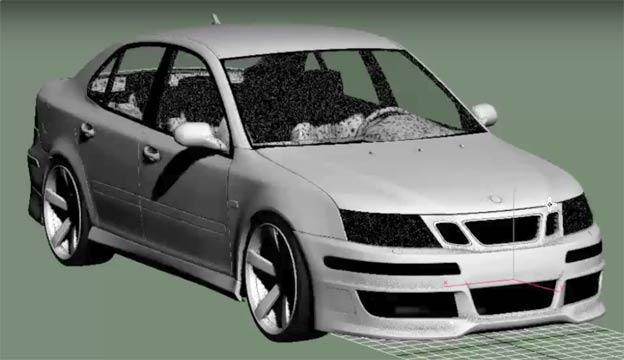 Saab 9-3 custom bodykit