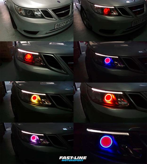 Saab 9-3 custom headlights