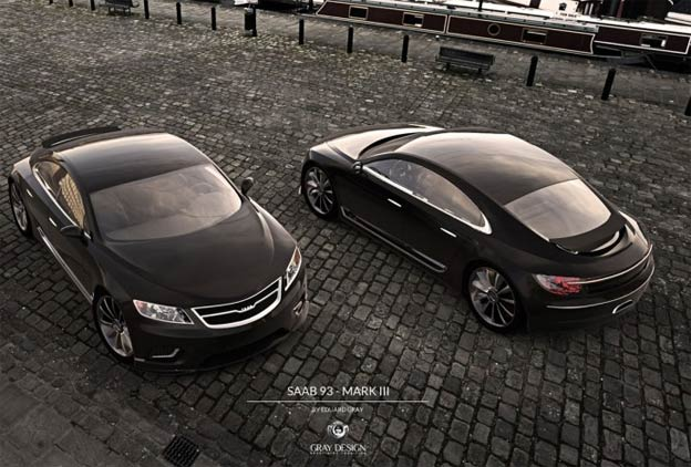 Concept Saab 9-3 envisioned by Gray Design