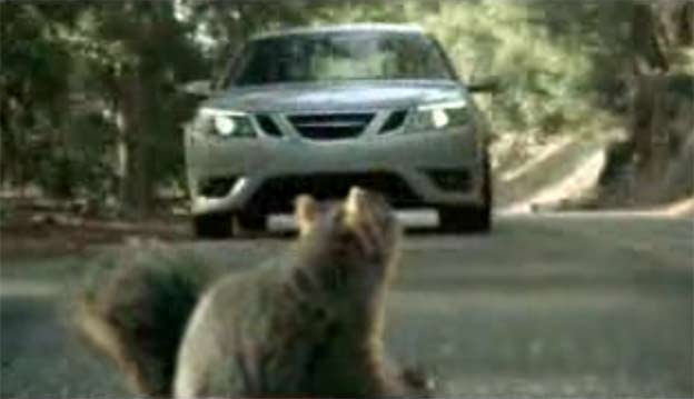 "Saab in ""Scream"" - Funny Superbowl Bridgestone Commercial"