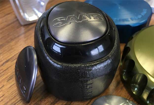 Saab 9-3 shift knob insert