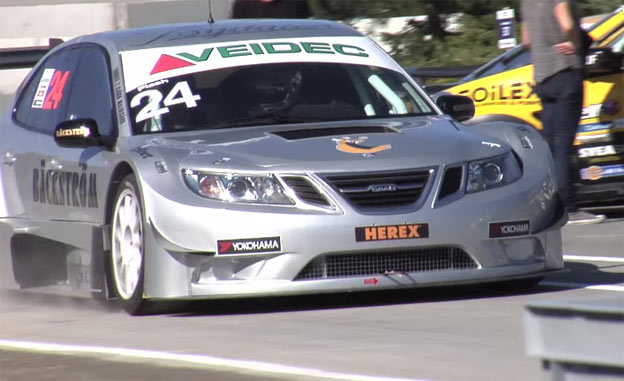 "One lap around Solvalla with Jan ""Flash"" Nilsson in Saab 9-3 STCC"