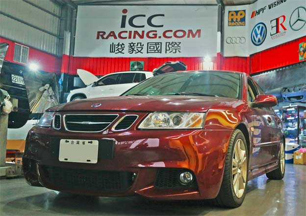 Saab 9-3 tuned by ICC racing
