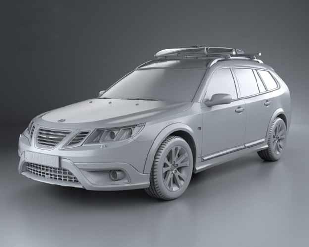 Saab 9-3x 3D model