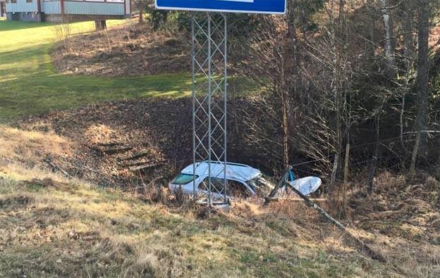 Saab 9-5 accident