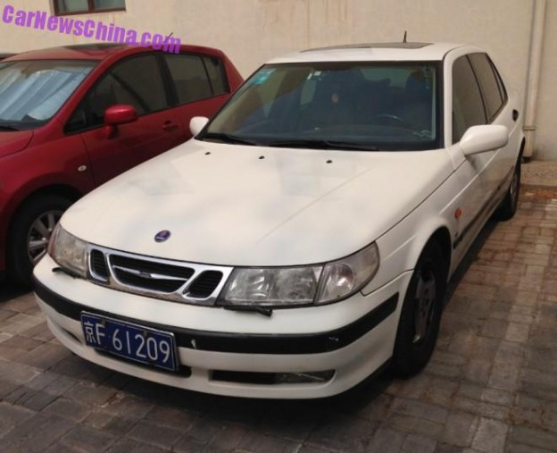Saab 9-5 SE, Spotted in China in the Lido area in Beijing.