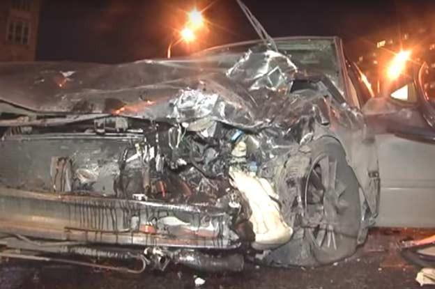 completely destroyed Saab 9-5