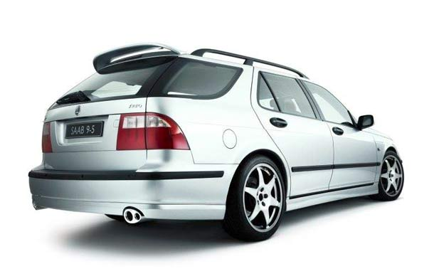 replica of hirsch roof spoiler for saab 9