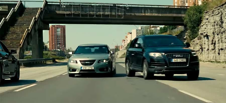 "The Unbreakable Saab 9-5NG in Chris Nolan's new movie ""Tenet"""