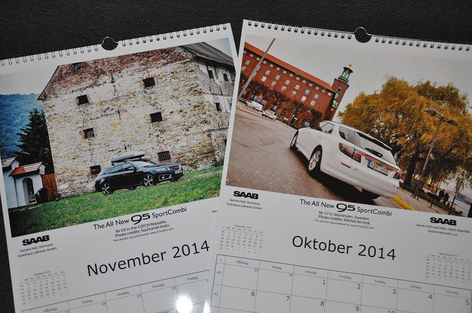 The All New Saab 9-5 SportCombi NG Calendar 2015