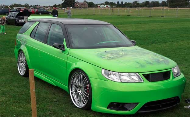 Highly Stylized Saab 9-5