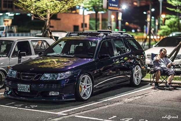 Beautiful Saab 9-5 Wagon and Its Owner
