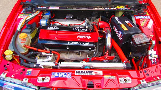 Tuned Saab 9000 2.0 engine