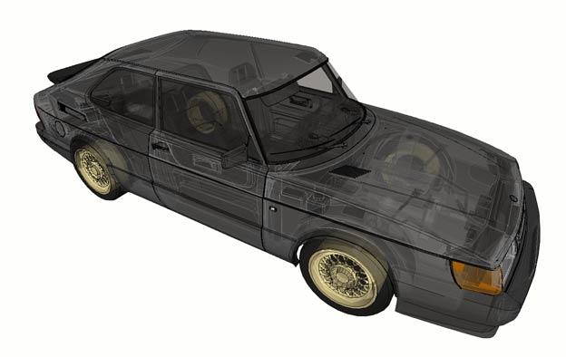 Saab 900 3D model