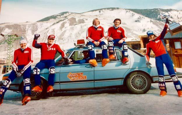 Saab 900 and Aspen Police ski team