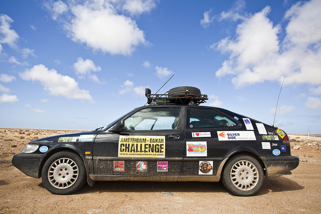 Saab 900 at The Amsterdam Dakar Challenge Rally