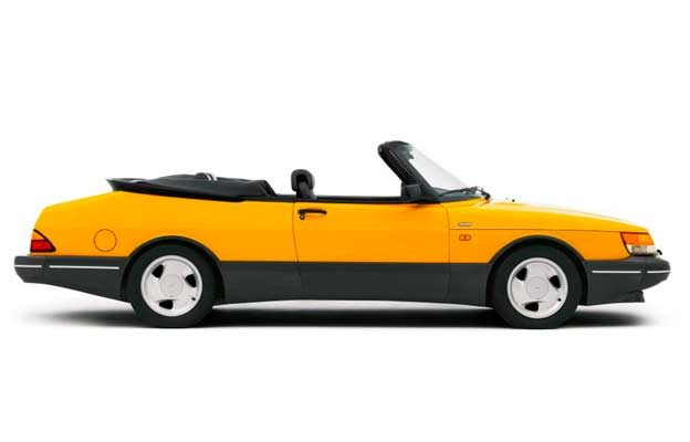 Saab 900-Convertible in Monte Carlo Yellow color