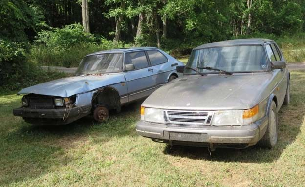 In the collection are mainly Saab 900, but there are also older Saab models