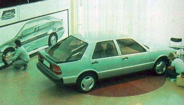 Saab 9000 in design studio
