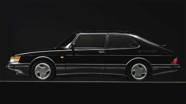 Saab 900 Turbo jet black