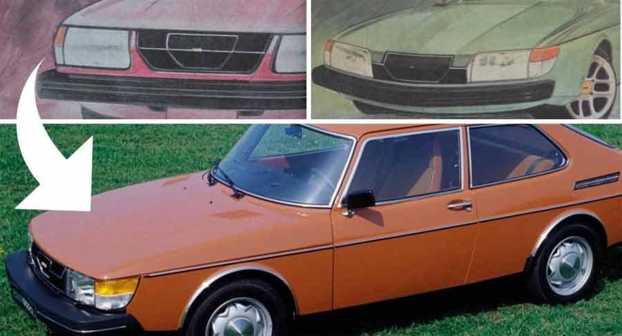 Saab 900 preliminar sketches