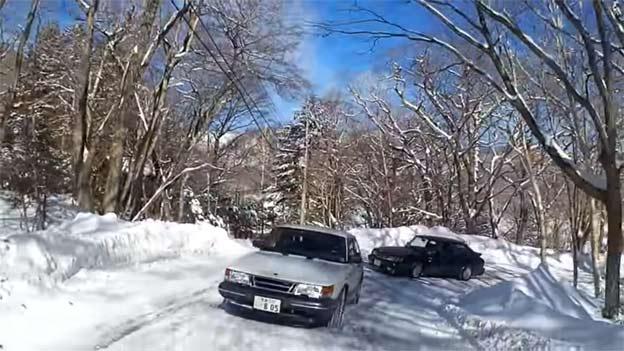 Saab 900 snow drive