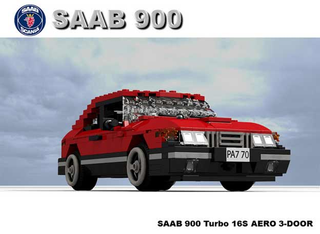 Saab 900 Turbo by LEGO