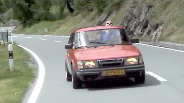 Saab 900 Turbo on Stelvio Pass