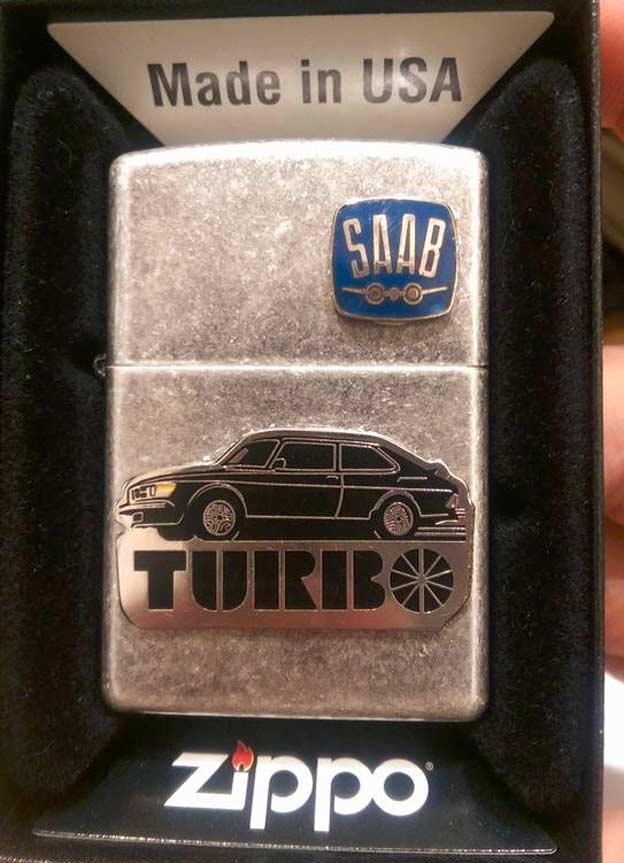 Saab 900 turbo zippo lighter
