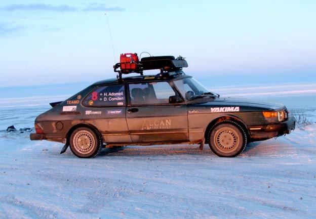 Saab 900 turbo at Alcan rally