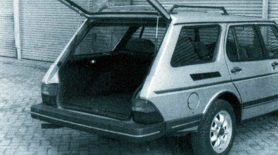 AIM's conversion was confined to the area behind the C-pillar. Tailgate was derived from hatchback door.
