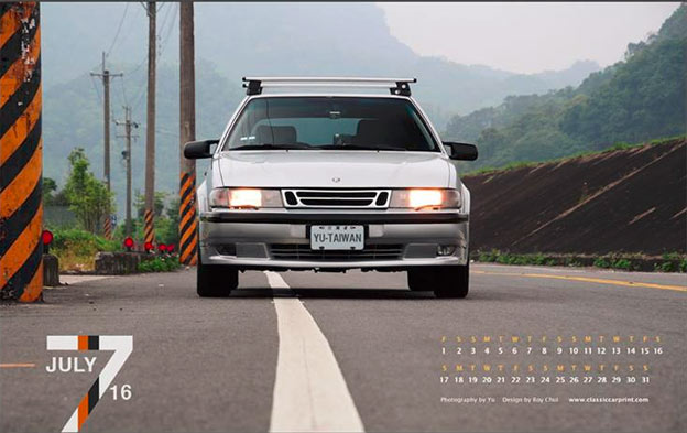 Saab 9000 Calendar