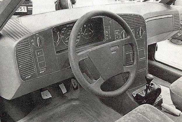Saab 9000 dashboard Mock-up