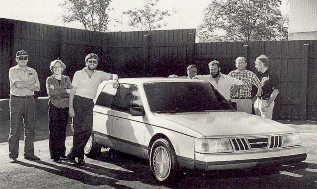 Saab 9000 Type 4 design team