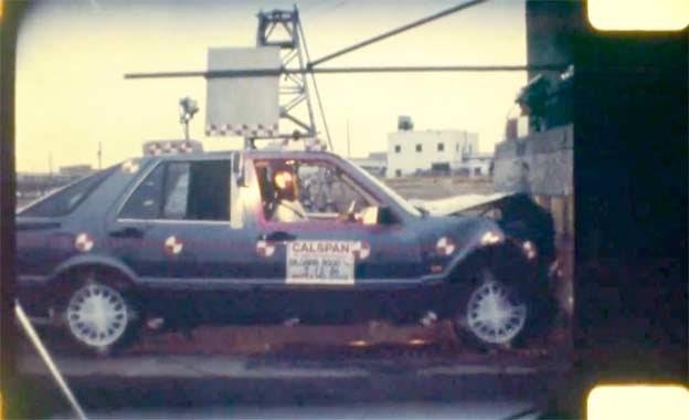 Saab 9000 NHTSA crash test from 1986
