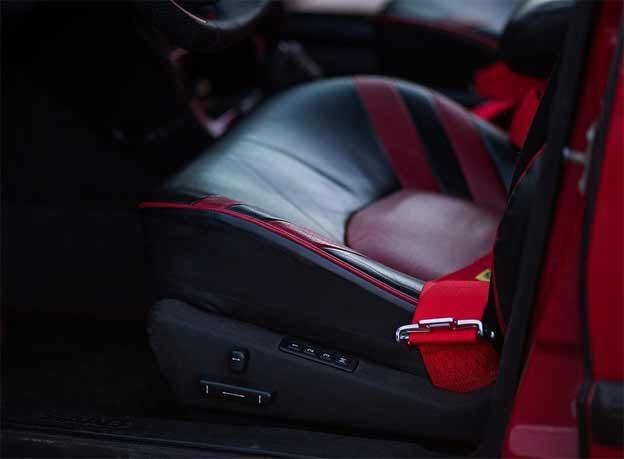 Saab 9000 Red interior