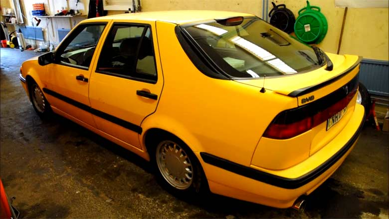 Saab 9000 Monte Carlo Yellow.