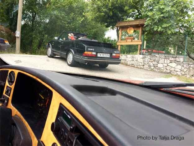 Saab 900 Convertible Meeting in italy