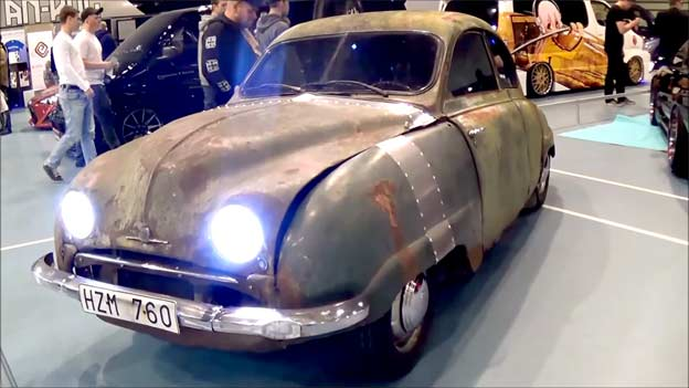Saab 92a with tank engine
