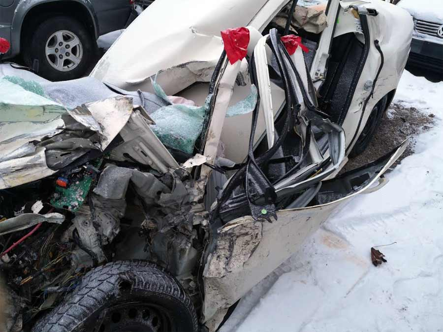 The construction of the vehicle absorbed the terrible impact, and managed to protect the passengers in the vehicle